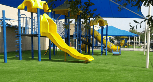 Artificial grass for playgrounds in los angeles